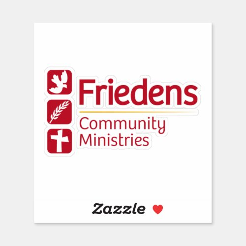 Friedens Vinyl Adhesive Sticker