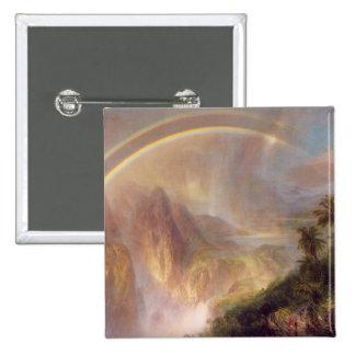 Friedrich Church Landscape painting Pinback Button