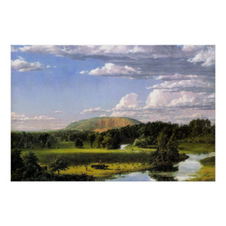 Friedrich Church Landscape painting Poster