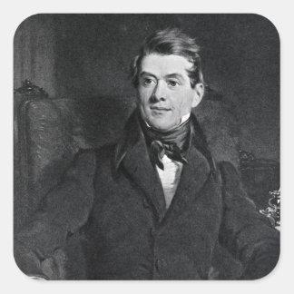 Friedrich cristiano, barón Stockmar Pegatina Cuadrada
