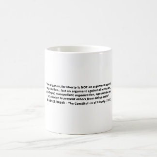 Friedrich Hayek Quote The Argument for Liberty Coffee Mug