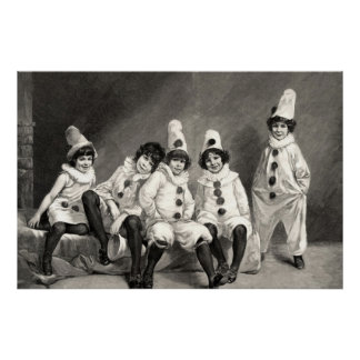 Friedrich Kaulback Kindercarneval Arlequin Child Posters