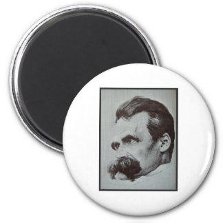 Friedrich Nietzsche 2 Inch Round Magnet