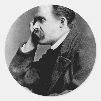 Friedrich Nietzsche Classic Round Sticker