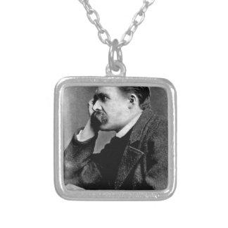 Friedrich Nietzsche -dd6 Square Pendant Necklace