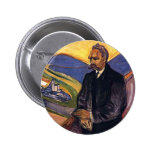 Friedrich Nietzsche Edvard Munch 2 Inch Round Button