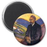 Friedrich Nietzsche Edvard Munch 2 Inch Round Magnet