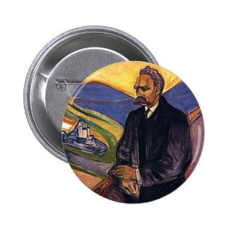 Friedrich Nietzsche Edvard Munch Pinback Buttons
