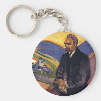 Friedrich Nietzsche Edvard Munch Keychain