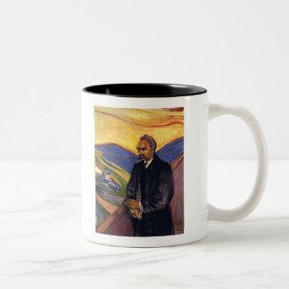 Friedrich Nietzsche Edvard Munch Two-Tone Coffee Mug