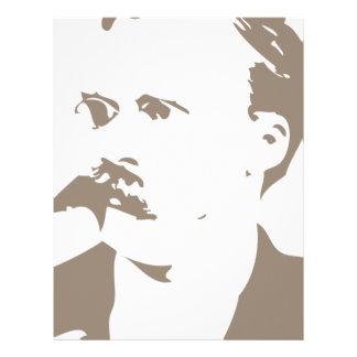 Friedrich Nietzsche Face Warm Gray Letterhead Design