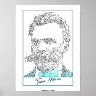 Friedrich Nietzsche. Filósofo alemán [010] Póster