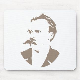 Friedrich Nietzsche hace frente a gris caliente Mousepad