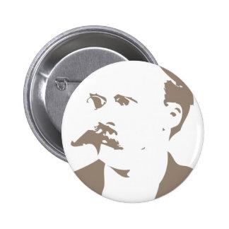 Friedrich Nietzsche hace frente a gris caliente Pins