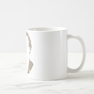 Friedrich Nietzsche hace frente a gris caliente Taza De Café