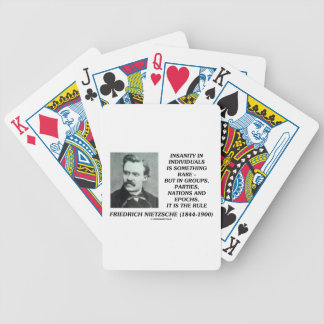 Friedrich Nietzsche Insanity In Individuals Rare Bicycle Playing Cards