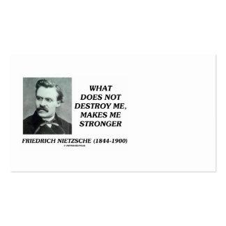 Friedrich Nietzsche no me destruye cita Tarjetas De Visita