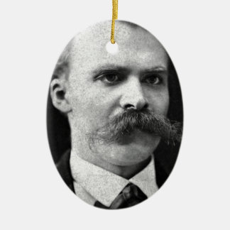 Friedrich Nietzsche original b&w photo Ceramic Ornament