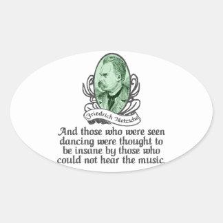 Friedrich Nietzsche Pegatina De Oval