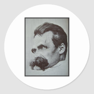 Friedrich Nietzsche Pegatinas Redondas
