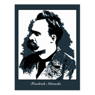 Friedrich Nietzsche portrait vector drawing Postcard