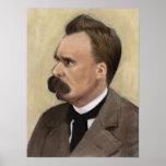 Friedrich Nietzsche, poster alemán del filósofo