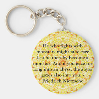Friedrich Nietzsche - profound quotation Keychains