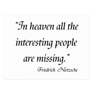 Friedrich Nietzsche Quotes on T-shirts! Postcard