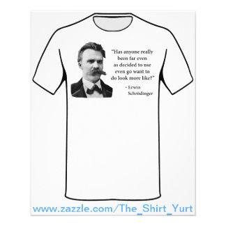 """Friedrich Nietzsche Troll Quote 4.5"""" X 5.6"""" Flyer"""