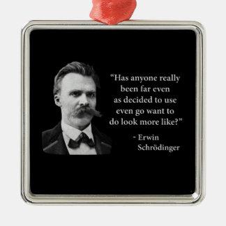Friedrich Nietzsche Troll Quote Ornament