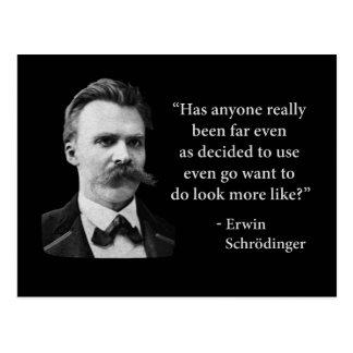 Friedrich Nietzsche Troll Quote Postcard