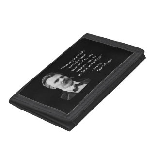 Friedrich Nietzsche Troll Quote Trifold Wallet