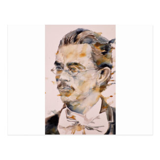 friedrich nietzsche - watercolor portrait.2 postcard