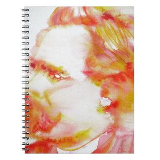 friedrich nietzsche - watercolor portrait.3 notebook