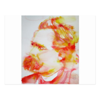 friedrich nietzsche - watercolor portrait.3 postcard