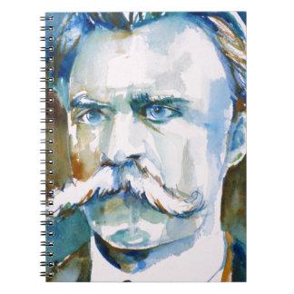 friedrich nietzsche - watercolor portrait notebook