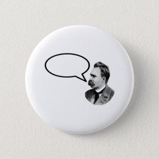 Friedrich Nietzsche Word Bubble Black jGibney Pinback Button
