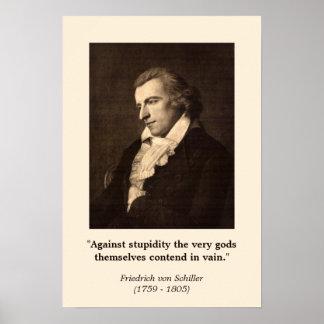 Friedrich Schiller - Against Stupidity Poster