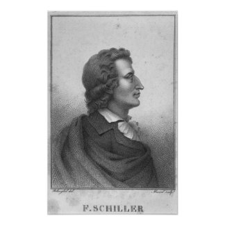 Friedrich Schiller  engraved by Massol Poster
