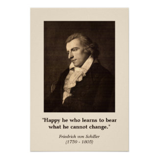 Friedrich Schiller -Quote on Happiness Poster