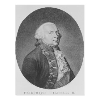 Friedrich Wilhelm II of Prussia Postcard