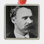 Friedrich Wilhelm Nietzsche (1844-1900) 1873 (b/w Adorno Navideño Cuadrado De Metal