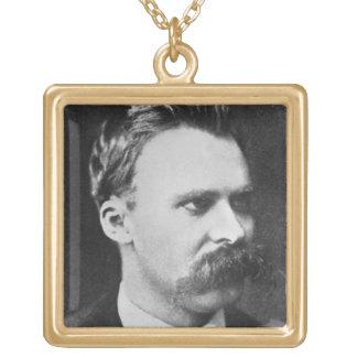 Friedrich Wilhelm Nietzsche (1844-1900) 1873 (b/w Gold Plated Necklace
