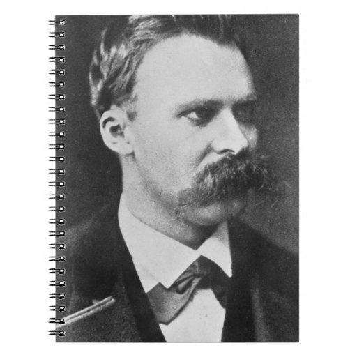 Friedrich Wilhelm Nietzsche (1844-1900) 1873 (b/w Spiral Notebook