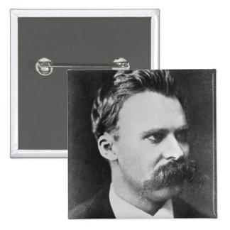 Friedrich Wilhelm Nietzsche (1844-1900) 1873 (b/w Pinback Button