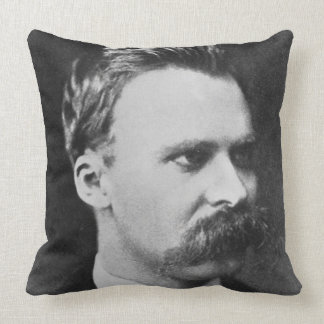 Friedrich Wilhelm Nietzsche (1844-1900) 1873 (b/w Throw Pillow