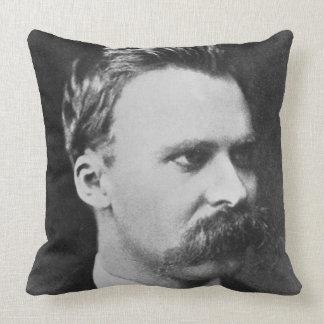 Friedrich Wilhelm Nietzsche (1844-1900) 1873 (b/w Throw Pillow