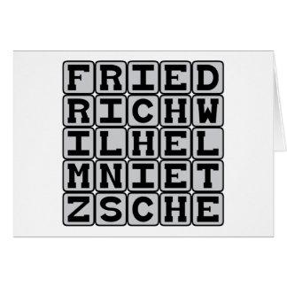 Friedrich Wilhelm Nietzsche, Existentialist Card