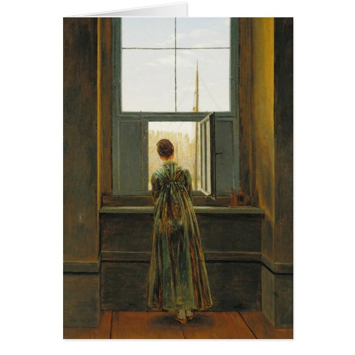 Friedrich Woman at a window CC0507 Greeting Card