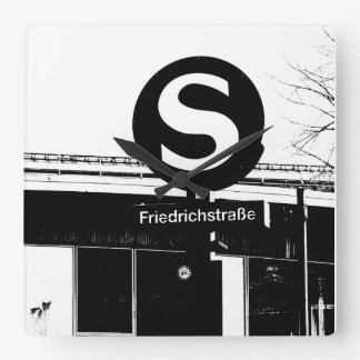 Friedrichstrasse_01.01.2.2_G_illu, S-Bahn, BERLIN Square Wall Clock